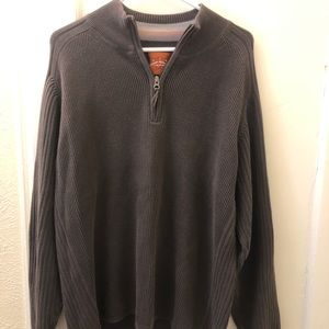Brown Tommy Bahama 3/4 Zip Sweater